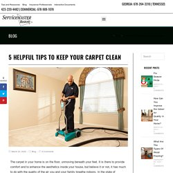 5 Helpful Tips to Keep Your Carpet Clean in Chattanooga