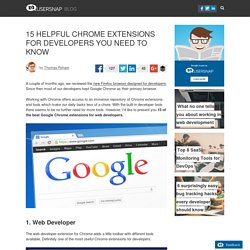 15 Helpful Chrome Extensions For Developers