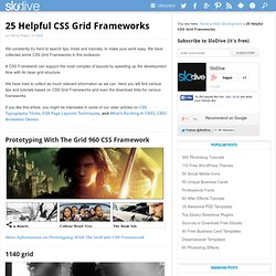 25 Helpful CSS Grid Frameworks