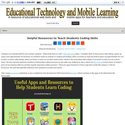 Helpful Resources to Teach Students Coding Skills