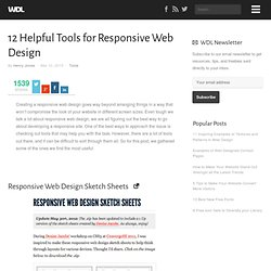 12 Helpful Tools for Responsive Web Design | Tools