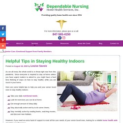 Helpful Tips in Staying Healthy Indoors