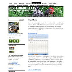 Helpful Tools | Sustainable Eats & the Dancing Goat Gardens Communal Project