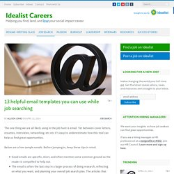 13 helpful email templates you can use while job searching