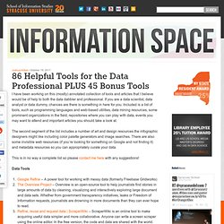 86 Helpful Tools for the Data Professional PLUS 45 Bonus Tools