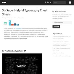Helpful Typography Cheat Sheets