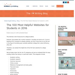 The 100 Most Helpful Websites for Students in 2016 - Global English Editing