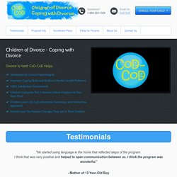 Helping Children Cope with Divorce - CoD-CoD