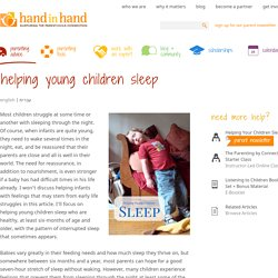 Helping Young Children Sleep