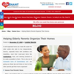 Helping Elderly Parents Organize Their Homes