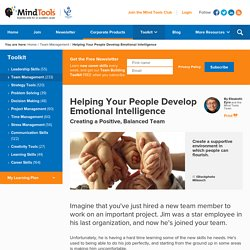 Helping Your People Develop Emotional Intelligence - From Mind Tools