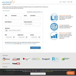 Kudos – helping increase the reach and impact of research