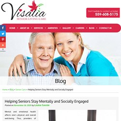 Helping Seniors Stay Mentally and Socially Engaged
