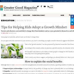 Tips for Helping Kids Adopt a Growth Mindset