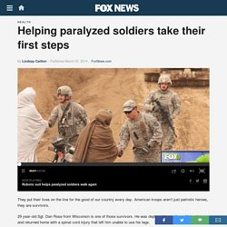 Helping paralyzed soldiers take their first steps