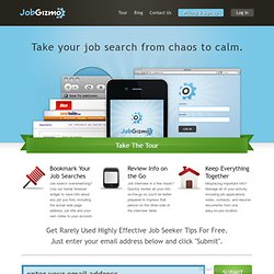 Helping People Manage Their Job Search