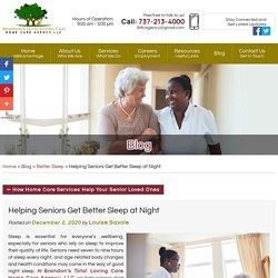 Helping Seniors Get Better Sleep at Night