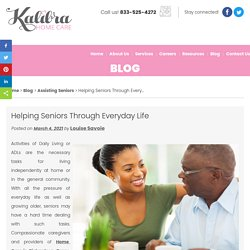Helping Seniors Through Everyday Life