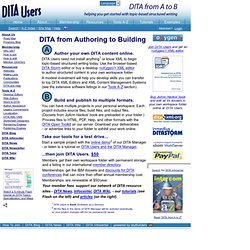 DITA Users - helping you get started with topic-based structured