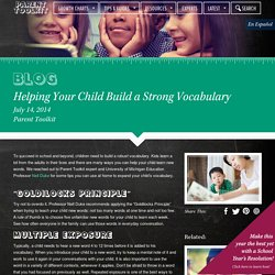 Helping Your Child Build a Strong Vocabulary