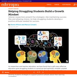 Helping Struggling Students Build a Growth Mindset