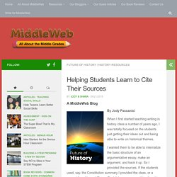 Helping Students Learn to Cite Their Sources