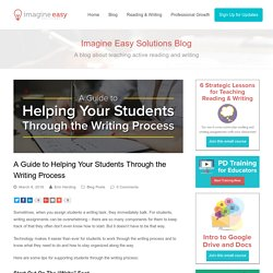 A Guide to Helping Your Students Through the Writing Process – Imagine Easy Solutions