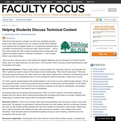 Helping Students Discuss Technical Content
