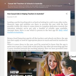 How Casual Aide is Helping Teachers in Australia?