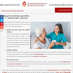 Helping Your Loved Ones Age In Place