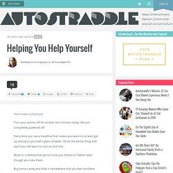 Helping You Help Yourself