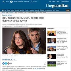 BBC helpline sees 26,000 people seek domestic abuse advice