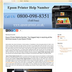 Epson Printer Contact Number UK 0800-098-8351