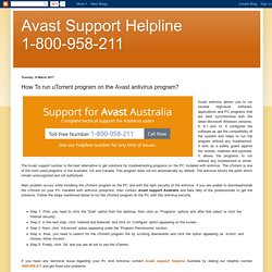 Avast Support Helpline 1-800-958-211: How To run uTorrent program on the Avast antivirus program?