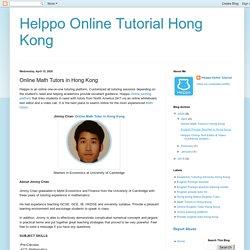 Experienced Online Math Tutor In Hong Kong