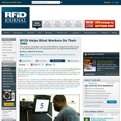 RFID Helps Blind Workers Do Their Jobs