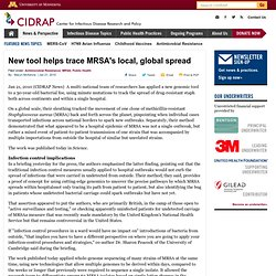New tool helps trace MRSA's local, global spread
