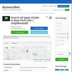 HelpWantedd - Professional Services - Local Business Directory