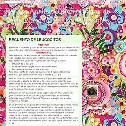 Realiza Análisis Hematólogicos de Serie Blanca Y Banco de Sangre. : RECUENTO DE LEUCOCITOS