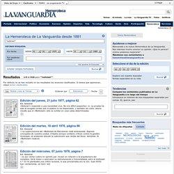 """""""noticiari"""" (1-9 de 918) Buscador Hemeroteca - Lavanguardia.es"""