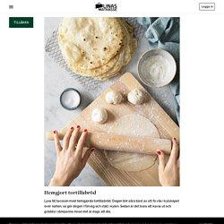 Hemgjort tortillabröd