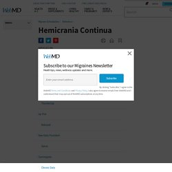 Hemicrania Continua (Continuous Headache): Symptoms and Treatment
