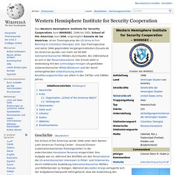 Western Hemisphere Institute for Security Cooperation