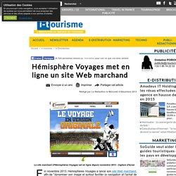 Hémisphère Voyages met en ligne un site Web marchand