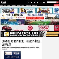 Concours TOP14 LSD - Hémisphères Voyages  LSD - Le Sport Dauphinois