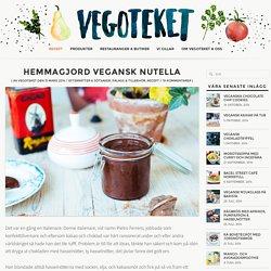 Hemmagjord vegansk Nutella