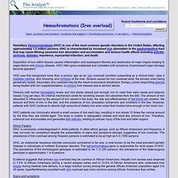 Hemochromatosis (Iron overload)