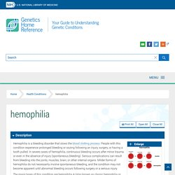 hemophilia - Genetics Home Reference