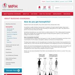 How do you get hemophilia? - World Federation of Hemophilia