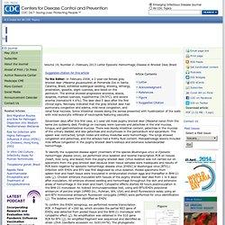 CDC EID - FEV 2013 - Au sommaire: Epizootic Hemorrhagic Disease in Brocket Deer, Brazil